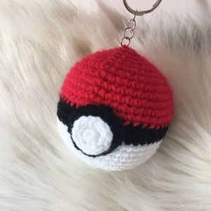 Accessories - handmade crochet poke ball key ring